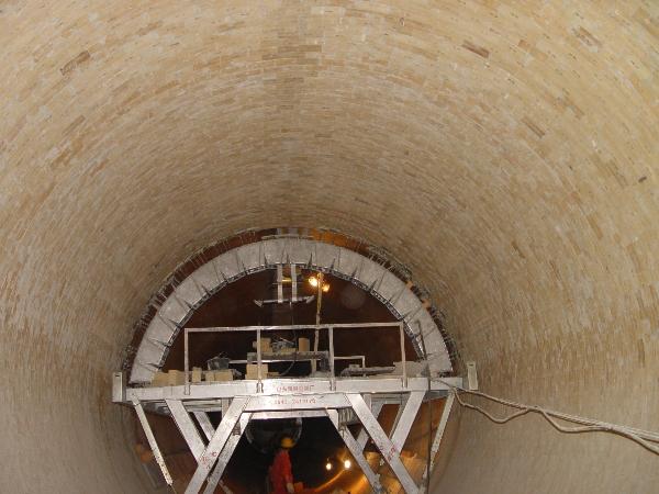 圆井砌筑流槽